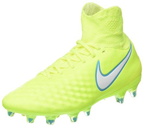 Nike Magista Orden II FG, Botas de fútbol para Mujer, Amarillo (Volt/White-Barely Volt-Chlorine Blue), 43 EU