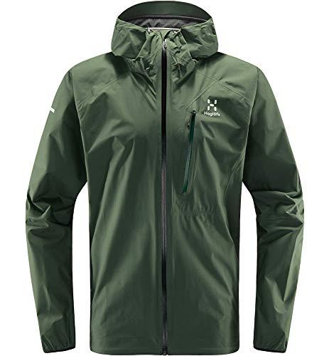 Haglöfs Regenjacke Herren Regenjacke L.I.M Jacket Wasserdicht, Winddicht, Atmungsaktiv Small Fjell Green XL XL