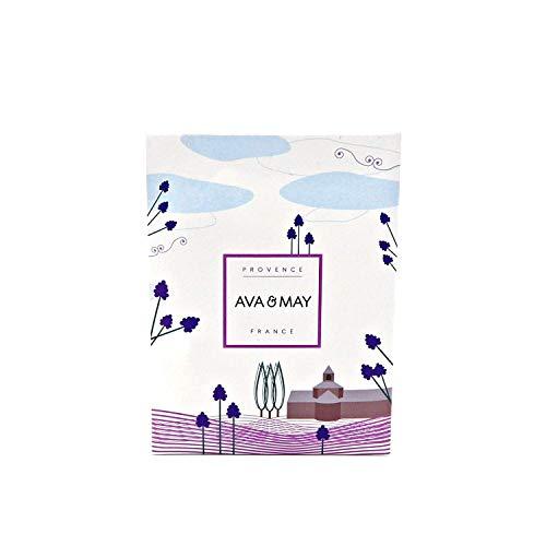 AVA & MAY Provence Duftsäckchen (75ml) – Handgemachtes Duftsäckchen für Kleiderschrank, Schubladen oder Duft fürs Auto mit Lavendel, Zitrone und Rose