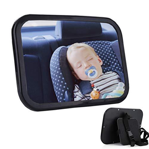 Vasait Specchietto Retrovisore Bambini Auto Baby Bambino Vista Posteriore Specchio Neonato Regolabile Specchio di Sicurezza Infrangibile Specchio di Sicurezza Istallazione Semplice