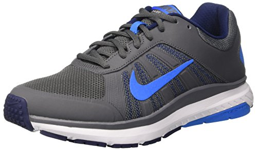 Nike Dart 12, Scarpe da Corsa Uomo, Grigio (Dark Grey/Photo Blue/Binary Blue), 40.5 EU