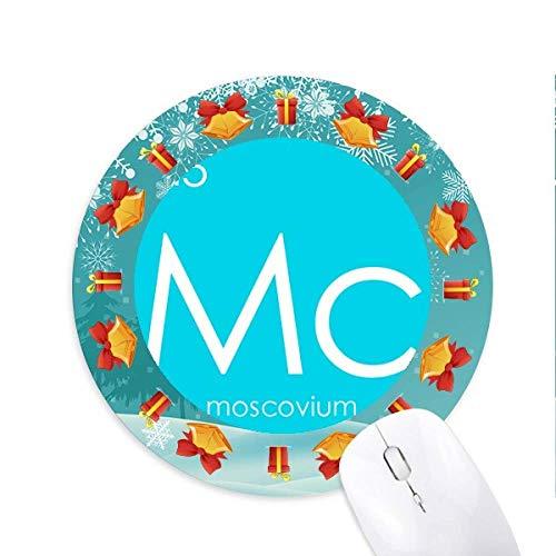 Chemie Elemente Zeit Tisch arme Metalle Moscovium Mc Mousepad Rundgummi Maus Pad Weihnachtsgeschenk