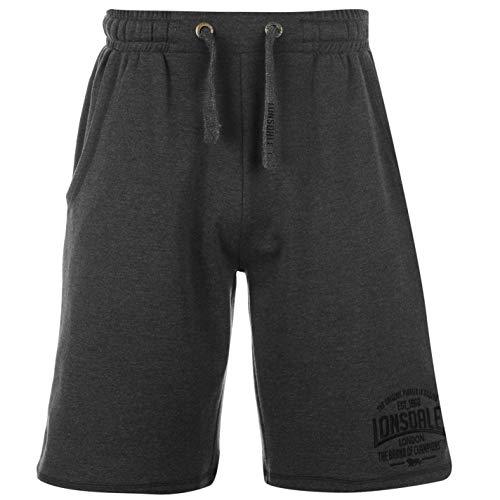 Lonsdale - Pantalones cortos de boxeo para hombre, pantalones deportivos gris oscuro M