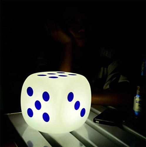 JINGBO LED Würfel Licht Stimmungslicht mit Fernbedienung, im Freien Wasserdichter Farbwechsel Würfelhocker, Justierbare RGB Farben und Dimmbare Nachtlicht zum Wohnzimmer,30cm