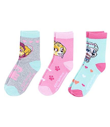 PAW PATROL Mädchen 3 er Pack Socken - türkis - 23-26