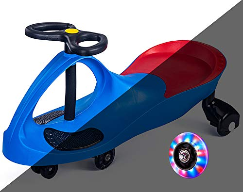 Gostorechoice Ride on Toys for Wiggle Car Boys Girls 3 Year Old and Up with LED Light Up Wheels (Blue)