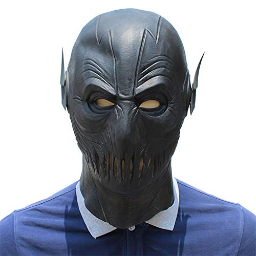 JNKDSGF Horror maskerThe Cosplay Mask Latex Full Head Party Zwart Masker Cosplay Superhero Flash Kostuum Prop