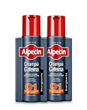 Alpecin Champú Cafeína C1 2x 250ml | Champu anticaida hombre y con cafeina | Tratamiento para la caida del cabello | Alpecin Shampoo Anti Hair Loss Treatment Men