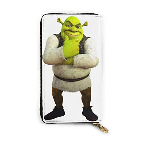 Shrek Musical Wallet RFID Zip Genuine Leather Wallet Around Card Holder Organizer Waterproof and Durable Clutch Wallet