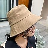 N-N Sombrero De Pescador Sombrero De Pescador En Blanco Mujer Al Aire Libre Sombrero De Sol De Color Sólido Playa Sombreros De Cubo Casuales Hombres Sombrero De Color Sólido