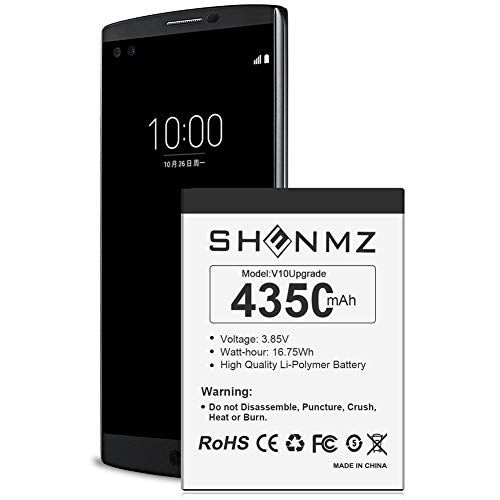 SHENMZ LG V10 Battery,[Upgraded] 3500mAh BL-45B1F Li-Polymer Replacement Battery for LG BL-45B1F V10 H901 H900 VS990 H960A LS992.