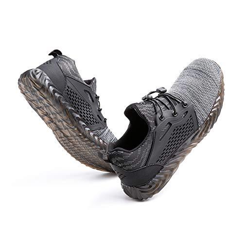 Zapatos de Seguridad Hombre Mujer con Punta de Acero Zapatillas de Trabajo...