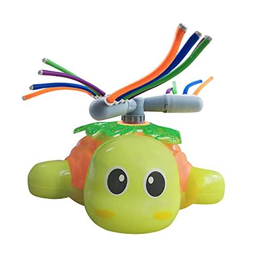 Daodan Wasserspielzeug Kinder Sprinkler Kinder, Sommer Wassersprinkler Spielzeug im Design für Garten Outdoor Aktivitäten, Sprühen Sie Wasserspielzeug für Kleinkinder Mädchen Jungen (Grün)