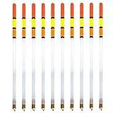 10 flotadores para pesca con tubo transparente para carpa de deriva (tubo blanco)