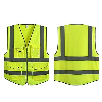 G & F Products Reflective Vest Safety Vest High Visibility with reflective strips multi-pockets