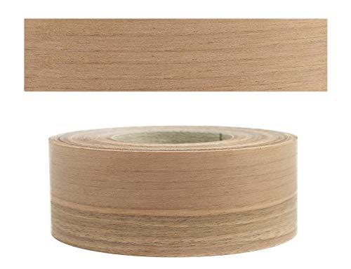 Mprofi MT® (10m Rotolo) Bordi in vero legno per i bordi dei mobili con colla Noce europ. 60 mm