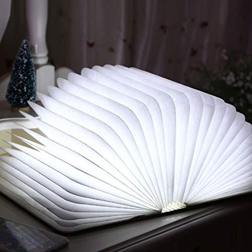 Nachtlampje, tiffany, minimalisme, led, opvouwbaar, boek, nachtlampje, USB-lamp, Europees tafellamp van hout, Origami, papier, nachtlampje, creatief cadeau.