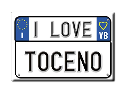 Enjoymagnets TOCENO CALAMITA Magnete Piemonte (VB) Italia Fridge Magnet Souvenir I Love (VAR. Targa)