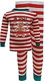 Komar Kids Girls' Gingerbread Cookie Oh Sugar Christmas Pajama (8) Red