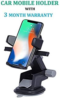 ASUSE 360 Degree Rotating Expandable Touch Frame Car Mount/Mobile Holder (Grey)