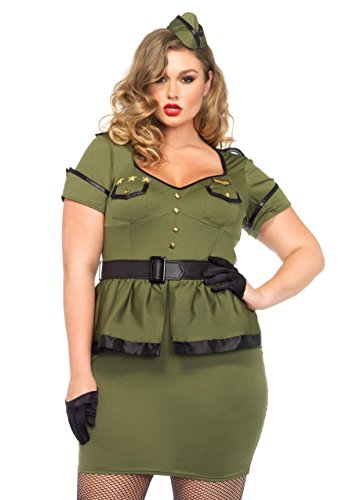 Leg Avenue 85427X - Kommandant Cutie Damen kostüm, Größe 1X-2X ( EUR 44-46)