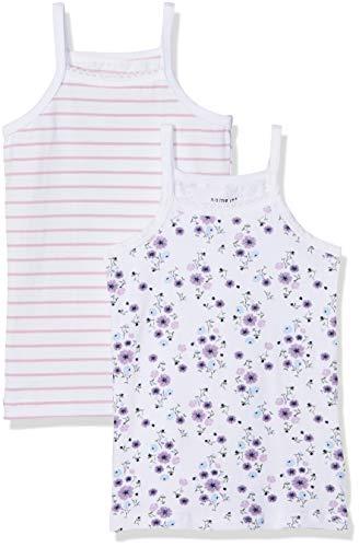 NAME IT NAME IT Baby-Mädchen NKFSTRAPTOP 2P NOOS Unterhemd, Mehrfarbig (Mauve Mist Mauve Mist), 92 (2er Pack)