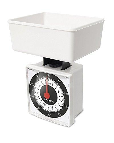 Salter - Báscula mecánica de Cocina, Dieta, Color Blanco