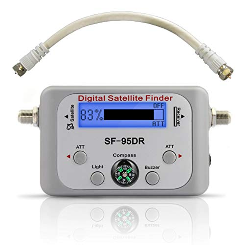 EX ELECTRONIX EXPRESS Digital Satellite Finder Meter for DirecTV - SF-95DR Backlit Plug and Play
