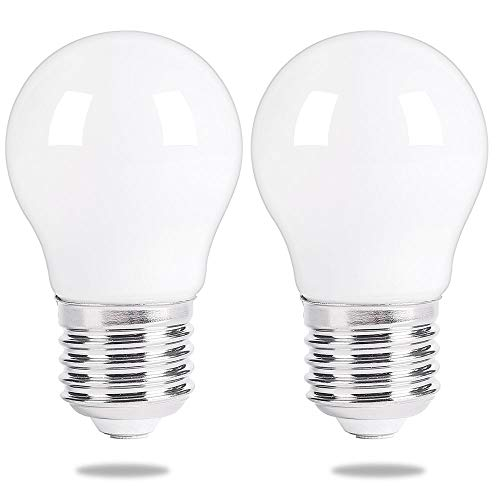 Mejor Oven Light Bulbs – 40 Watt Appliance Replacement Bulbs for Oven, Stove, Refrigerator, Microwave. Incandescent - High Temp G45 E26/E27 Socket. Medium Brass Lead-Free Base - 400 Lumens - Clear. 2 Pack crítica 2020