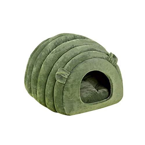 Lirui Huisdierbed, kattenbed en hondenhok, 2-in-1, opvouwbaar, zacht, warm