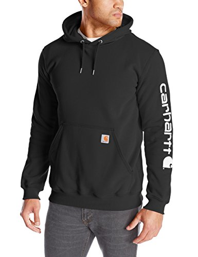 Carhartt Men's Midweight Sleeve Logo Hooded Sweatshirt (Regular and Big  Hawaii