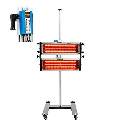 N\C 2000 W pintura infrarroja lámpara de curado cuerpo coche onda corta pintura móvil infrarroja secado lámpara calentador luz secadora herramientas de reparación automática (220 V UE)