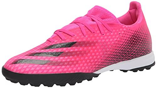 adidas mens X Ghosted.3 Turf Soccer Shoe, Shock Pink/Black/Screaming Orange, 11.5 US