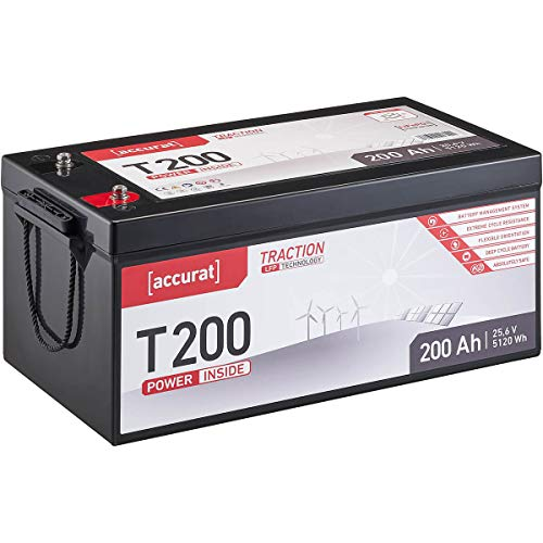 Accurat Traction 24V 200Ah LiFePO4 Lithium-Eisenphosphat Versorgungs-Batterie T200 LFP