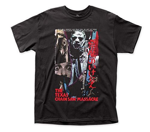 Impact Texas Chainsaw Massacre Japanese VHS Adult tee (XL) Black