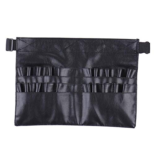 Make-up Pinsel Tasche Tasche Portable Taschen Kosmetik Pinsel Halter Organizer mit Künstler Gürtel Strap PU Leder (Pinsel nicht enthalten)