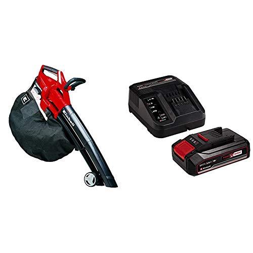 Einhell GE-CL 36 Li E Solo - Aspirador-soplador de hojas con tecnología Power X-Change 2x18V (ref. 3433600) + 4512097 Kit para principiantes que incluye Batería 2,5 Ah + Cargador Power X-Change