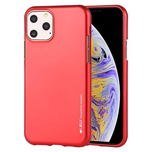 Durable Funda TPU a Prueba de Golpes y arañazos Case for iPhone 11 Pro MAX (Color : Red)