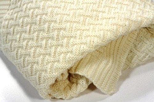 Kuscheldecke Babydecke Puckdecke aus 100% Bio Merino Schurwolle made in Germany 80 x 90 cm