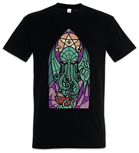 Urban Backwoods Church of Cthulhu Herren T-Shirt Schwarz Größe L