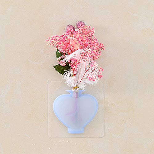 4pcs Silicone Wall Hanging Vase Stickers Magic Wall Stickers Container Floret Bottle Home Decoration