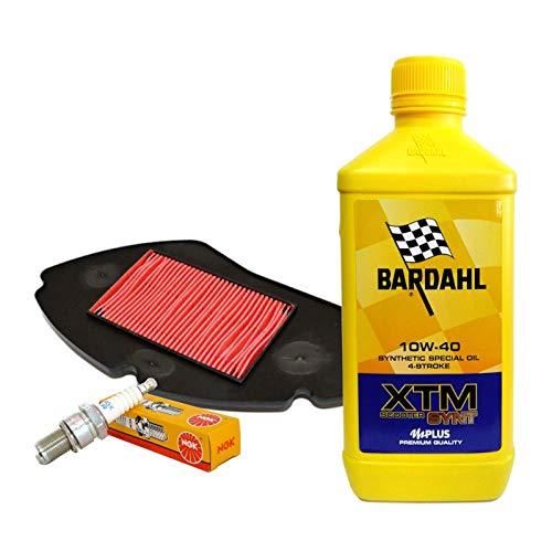 Kit de revisión Bardahl XTM 10W40 filtro aire bujía Yamaha MW 125 Tricity