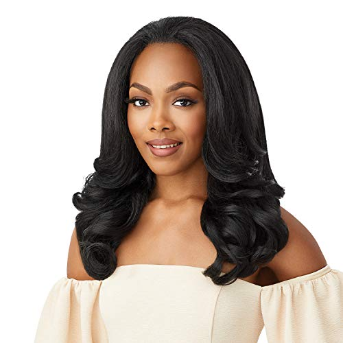 Outre Quick Weave Self Styled in 60 Seconds Neesha Soft & Natural New Half Wig Cap Laysflat Requires Less Leave Out NEESHA H301 (DR2/HNBRN)