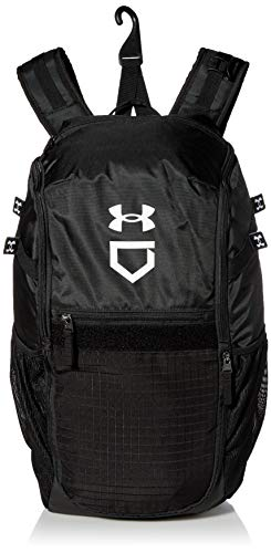 Under Armour Men's Utility Baseball Backpack , Black (001)/White , One Size Fits All