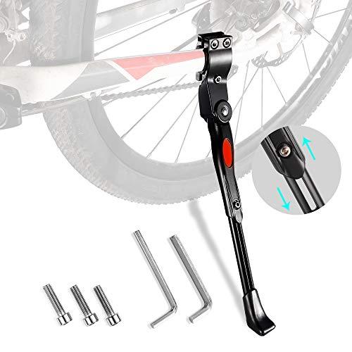 JuguHoovi Fahrradständer für 22-28 Zoll höhenverstellbaren Fahrradständer, haltbarer Fahrradträger aus Aluminiumlegierung mit Gummifüßen,Universal Seitenständer geeignet für Mountainbikes, Rennen