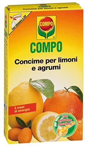 Compo, Concime per Limoni e Agrumi, per Uno Sviluppo equilibrato delle Foglie, dei germogli e la Formazione dei Frutti, Fino a 3 Mesi di nutrimento, 500 Gr, 3.8x11.5x20.5 cm