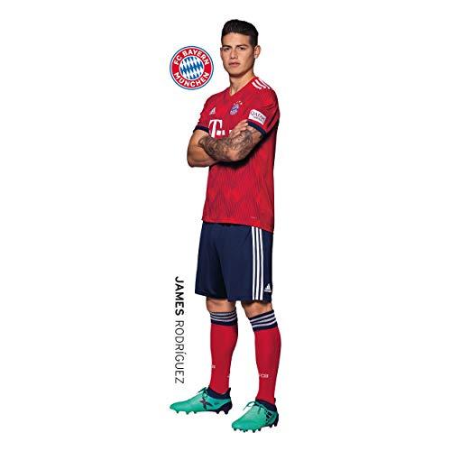 Muursticker FC Bayern München compatibel FCB James + sticker München Forever, Wall Tattoo, muurschildering en muursticker