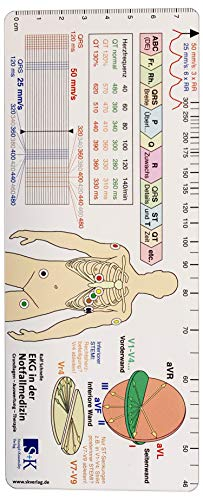 EKG Lineal für Notfallmedizin/Rettungsdienst