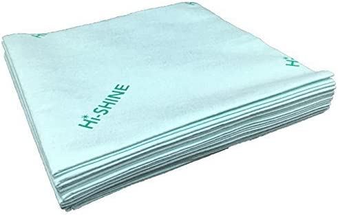 Hi-Shine Next Generation Microfibre Cleaning Cloth 10 Pack Colour Coded (Blue)