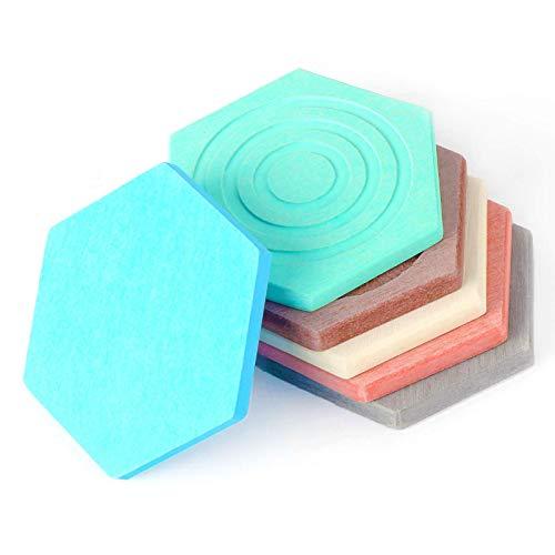 YuuHeeER Posavasos de silicona ecológicos, con forma de diatomita hexagonal, antideslizante, 6 unidades